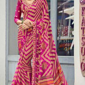 Multicolor Designer Saree