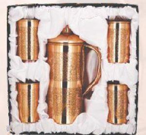 Copper Jug & Glass Set
