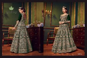 Embroidered Premium Silk Gown