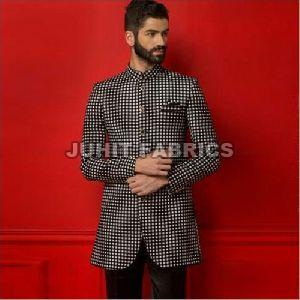 Mens Check Indo Western Jacket