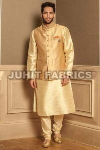 Mens Polyester Kurta Jacket Set