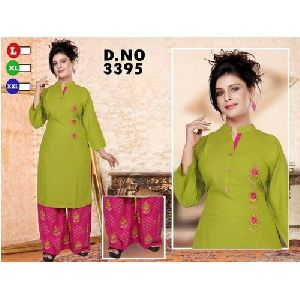 Ladies Cotton Palazzo Suit