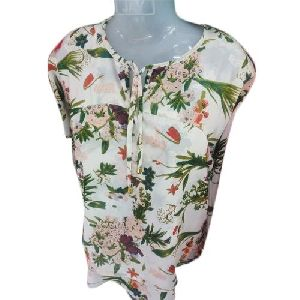 Ladies Flower Printed Top