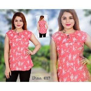 Ladies Pink Cotton Top