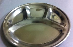 Stainless Steel Round Compartment Thali