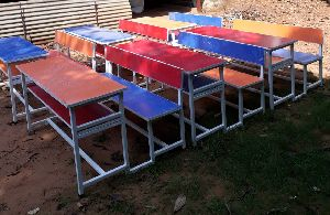 Economical Colourful Desk Bench for Primary Classes