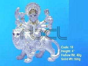 10 Sterling Silver Maa Durga Statue