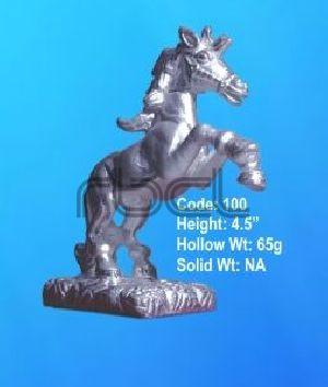 100  Sterling Silver Horse Statue