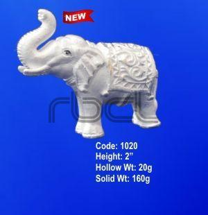 1020 Sterling Silver Elephant Statue