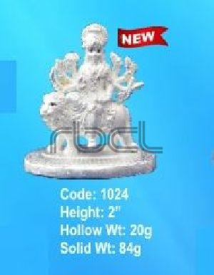 1024 Sterling Silver Maa Durga Statue