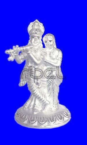 1025 Silver Radha Krishna Statue