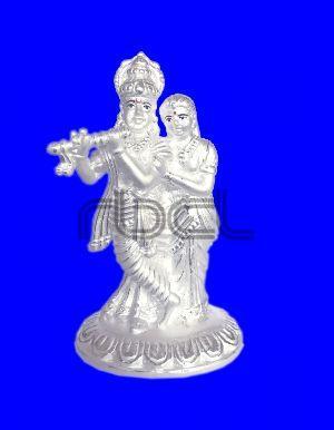 1026 Silver Radha Krishna Statue
