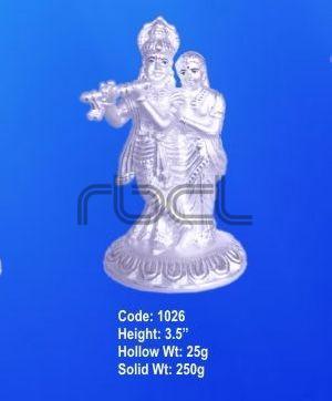 1026 Sterling Silver Radha Krishna Statue