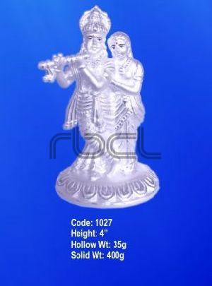 1027 Sterling Silver Radha Krishna Statue