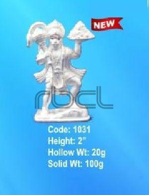 1031 Sterling Silver Hanuman Statue