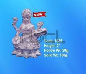 1035 Sterling Silver Saraswati Statue