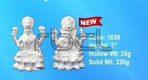 1039 Sterling Silver Laxmi Ganesh Statue