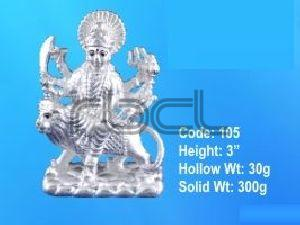 105 Sterling Silver Maa Durga Statue