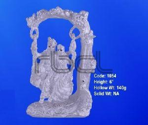 1054 Sterling Silver Radha Krishna Statue