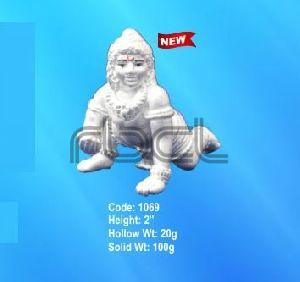 1069 Sterling Silver Laddu Gopal Statue