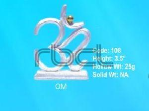 108 Sterling Silver Om Statue