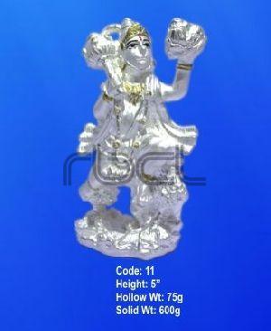 11 Sterling Silver Hanuman Statue