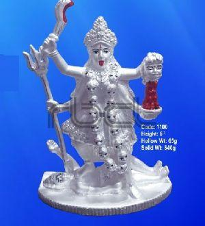 1100 Sterling Silver Maa Kali Statue