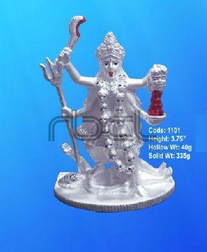 1101 Sterling Silver Maa Kali Statue