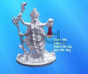 1102 Sterling Silver Maa Kali Statue