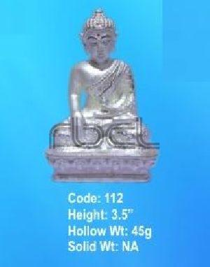 112 Sterling Silver Buddha Statue