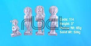 114 Sterling Silver Ram Darbar Statue
