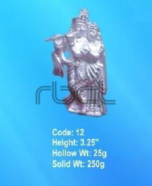 12 Sterling Silver Radha Krishna Statue
