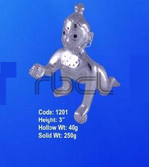 1201 Sterling Silver Laddu Gopal Statue