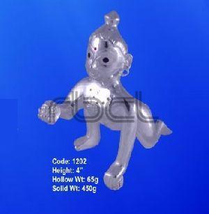 1202 Sterling Silver Laddu Gopal Statue