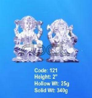 121 Sterling Silver Laxmi Ganesh Statue