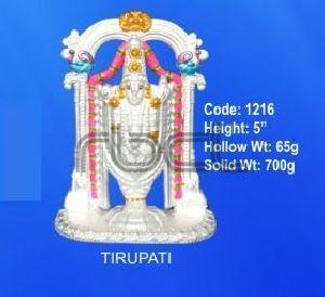 1216 Sterling Silver Tirupati Statue