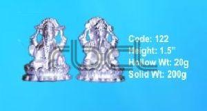 122 Sterling Silver Laxmi Ganesh Statue
