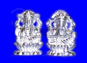 124 Silver Laxmi Ganesh Statue