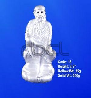 13 Sterling Silver Sai Baba Statue