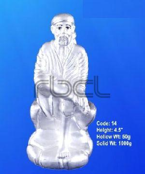 14 Sterling Silver Sai Baba Statue