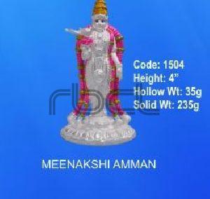 1504 Sterling Silver Meenakshi Amman Statue