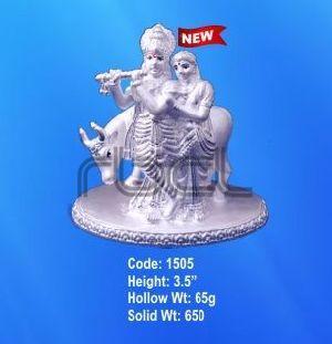 1505 Sterling Silver Radha Krishna Statue