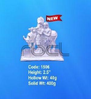 1506 Sterling Silver Radha Krishna Statue