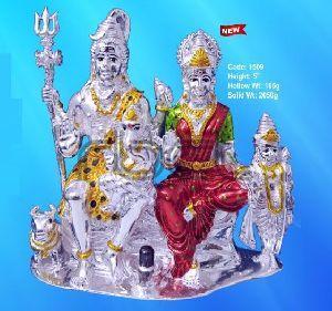 1509 Sterling Silver Shiv Parivar Statue
