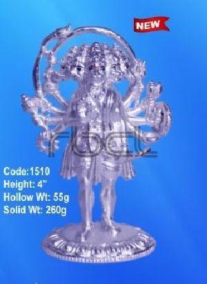 1510 Sterling Silver Hanuman Statue