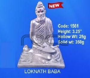 1561 Sterling Silver Loknath Baba Statue
