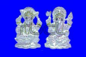 123 Silver Laxmi Ganesh Statue