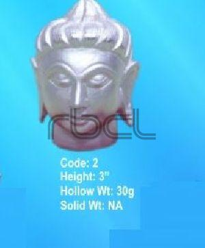 2  Sterling Silver Buddha Statue