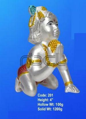 201 Sterling Silver Laddu Gopal Statue