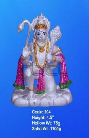 204 Sterling Silver Hanuman Statue